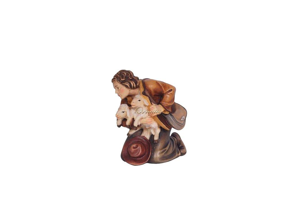dřevěný pastýř součást dřevěného betlému