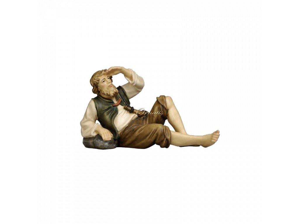 pastýř poutník dřevěné postavy dřevořezba
