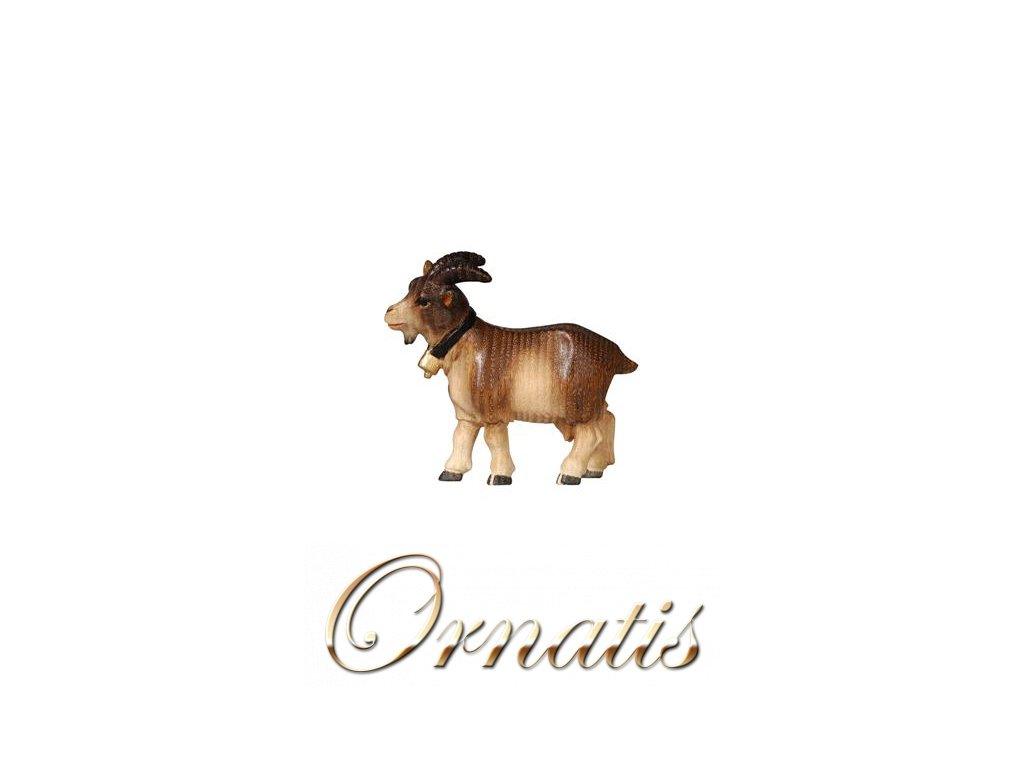 Dřevěná vyřezávaná soška kozy zvířata do betlému