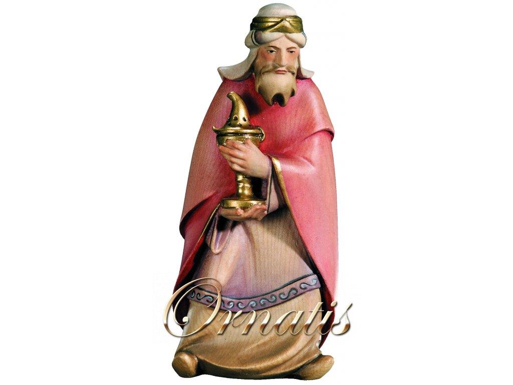 Dřevěná vyřezávaná socha Svatého Kašpara
