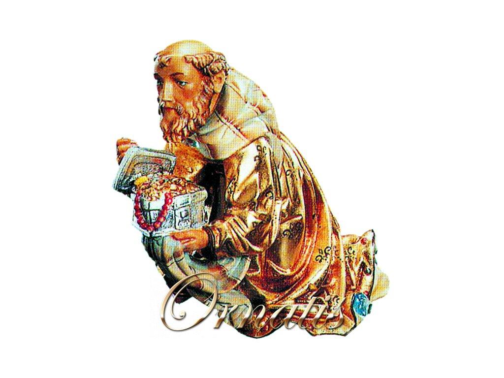 Dřevěná vyřezávaná socha Krále Melichara