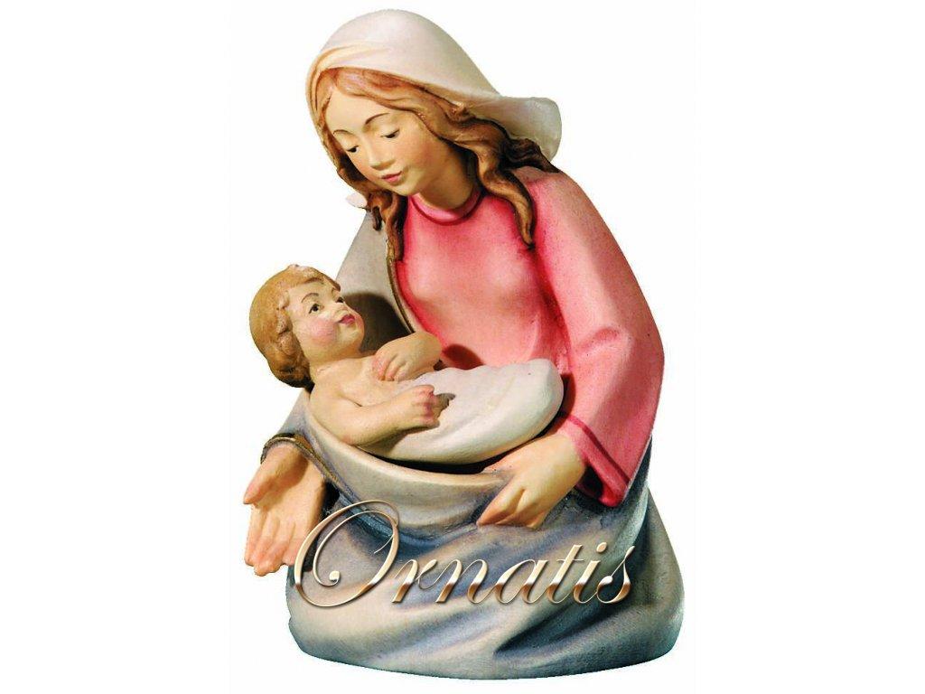 Dřevěná vyřezávaná socha Pany Marie