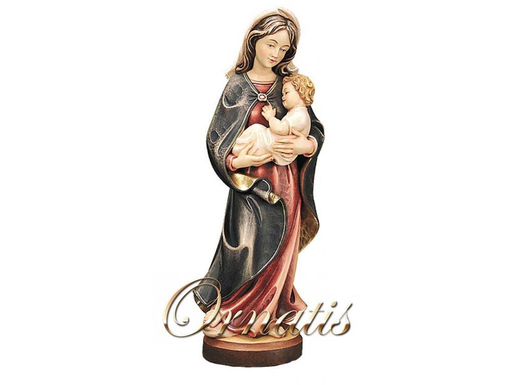 Drevená socha Panny Márie s Ježiškom v náručí