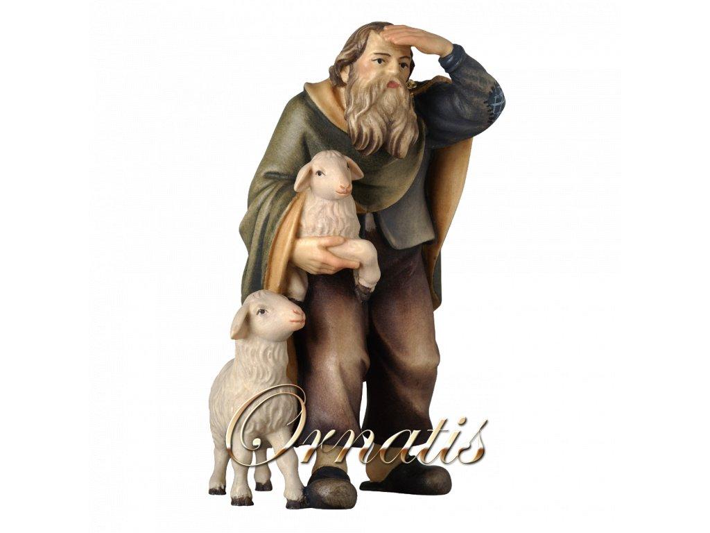2196 pastyr poutnik ovce betlem drevo