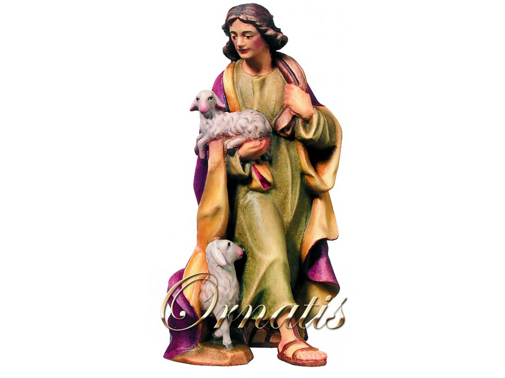 Pastýř s jehňaty-prodej betlémů