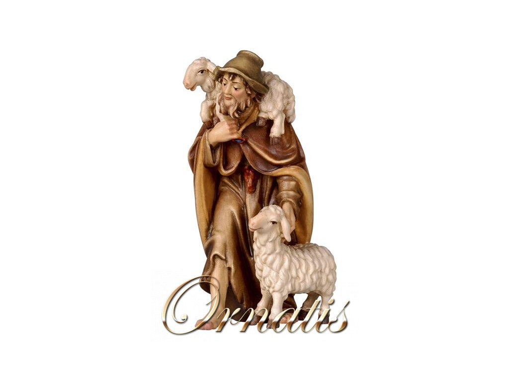 dřevěný pastýř s ovcemi prodej vánočních betlému