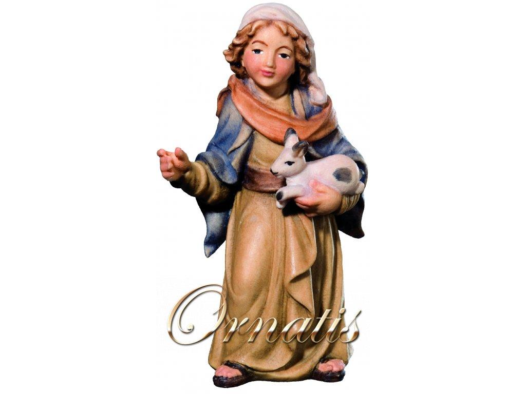 pastýřka s králíkem dřevěná postava do betlému