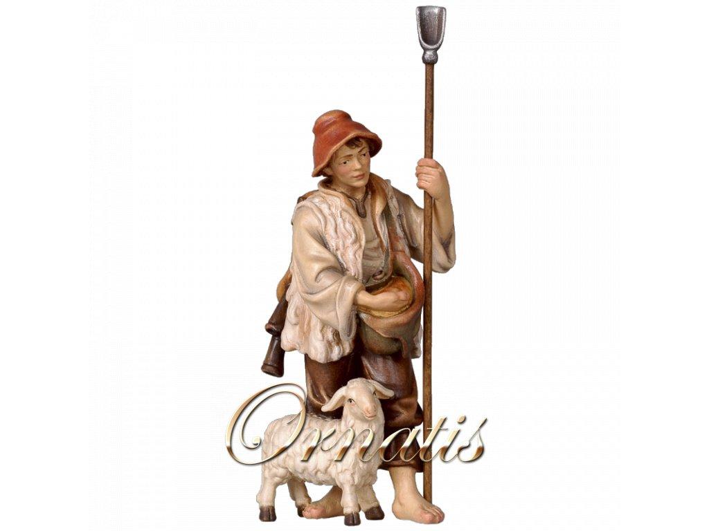 betlem soska drevo figurka pastyr malovany ovce 3