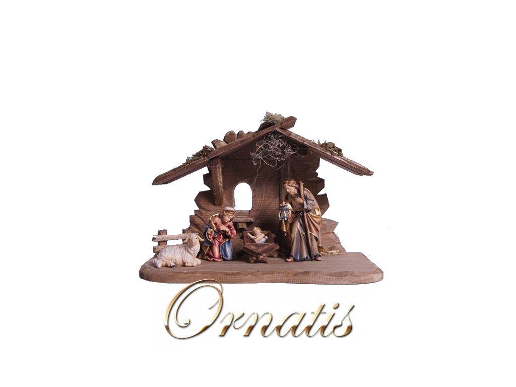 dřevěný betlem soska svatarodina josef marie jezisek ovce figurka drevo