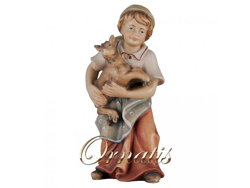 Děvčátko s kůzletem (Velikost salaše Malovaná, Velikost stojících figur 22 cm)