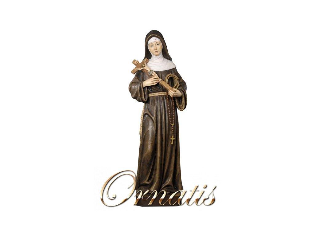 Drevená vyrezávaná socha Svätej Svätej Rity z Cascia