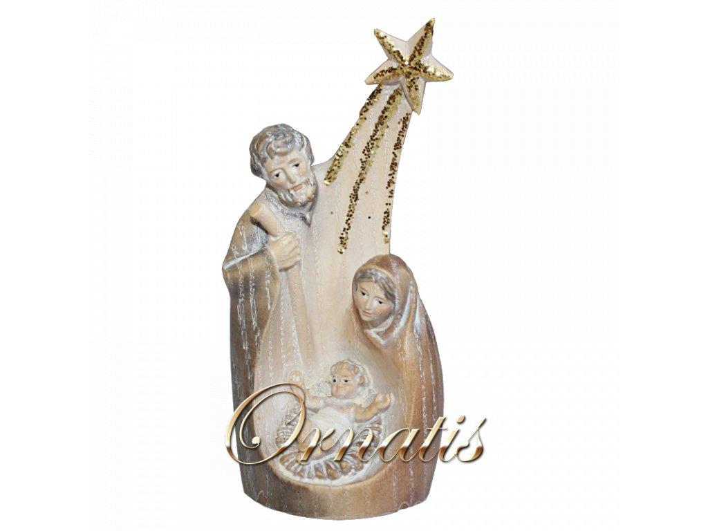 Drevená ručne vyrezávaná Svätá rodina