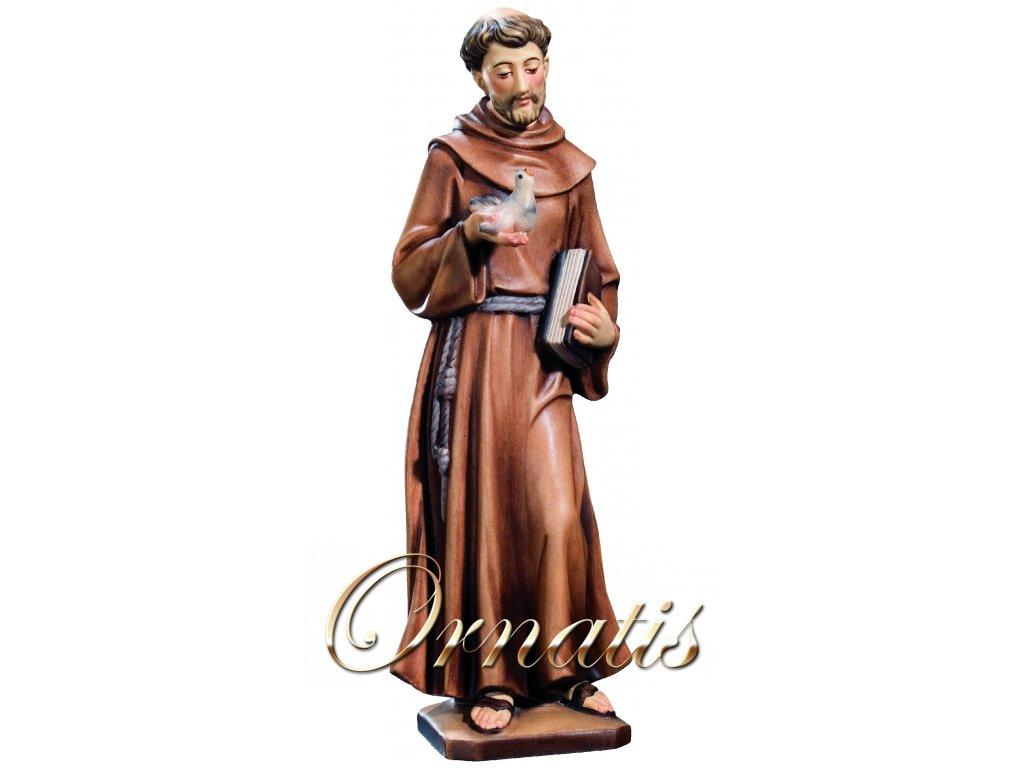 Dřevěná vyřezávaná socha Svatého Františka