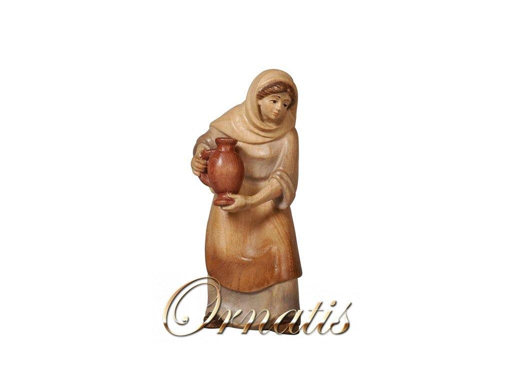dřevěná postava ženy do betléma