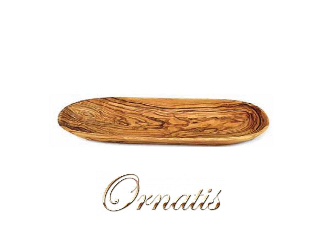 Dřevěná oválná miska z olivového dřeva