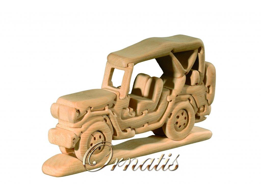 dřevěné 3D puzzle-auto jeep