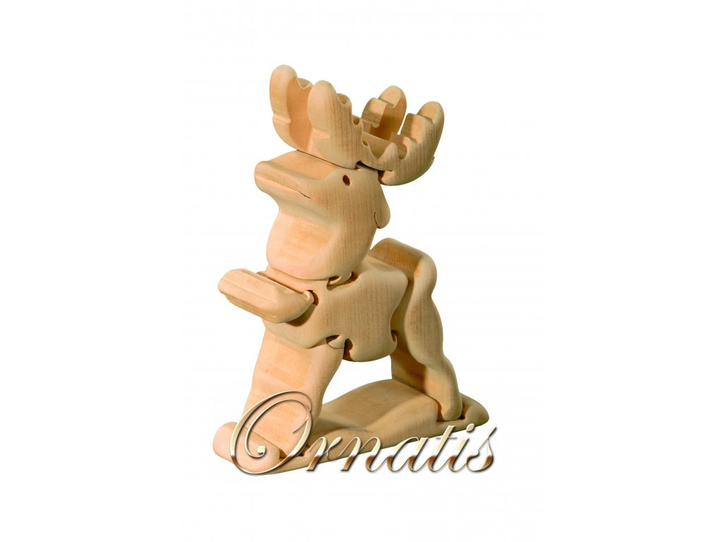 dřevěné 3D puzzle-jelen