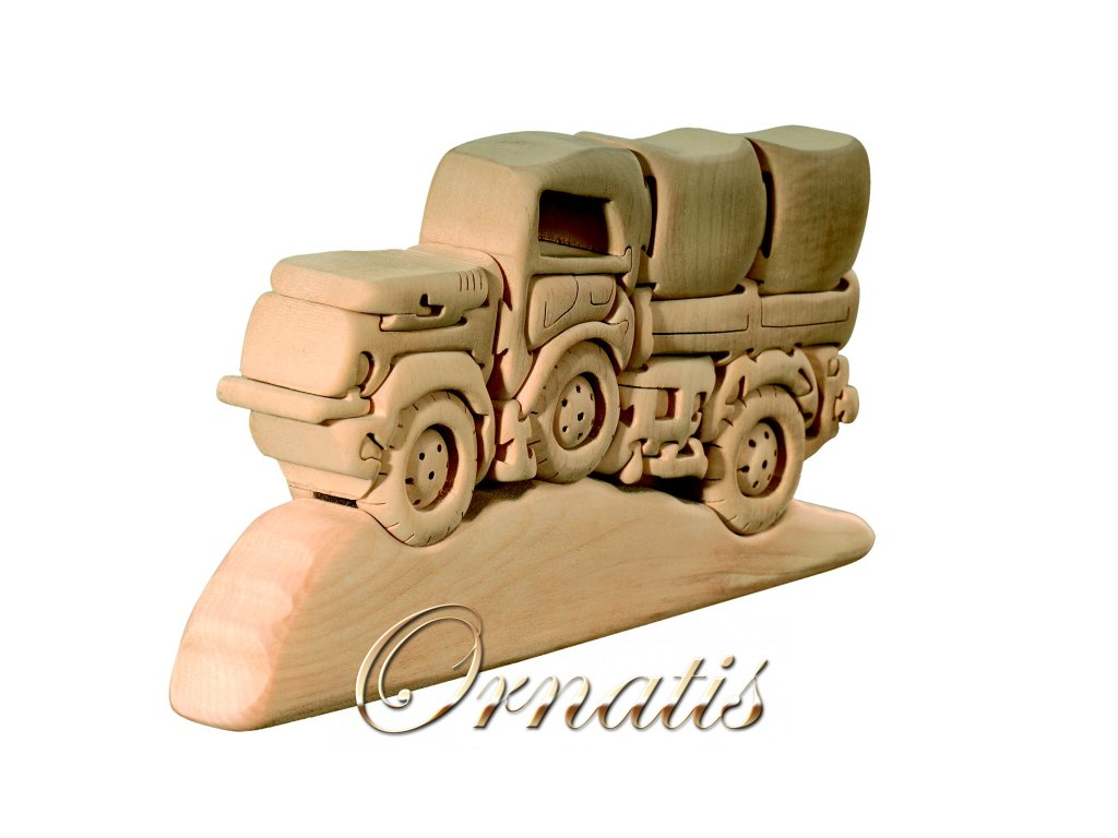 dřevěné 3D puzzle-nákladní auto