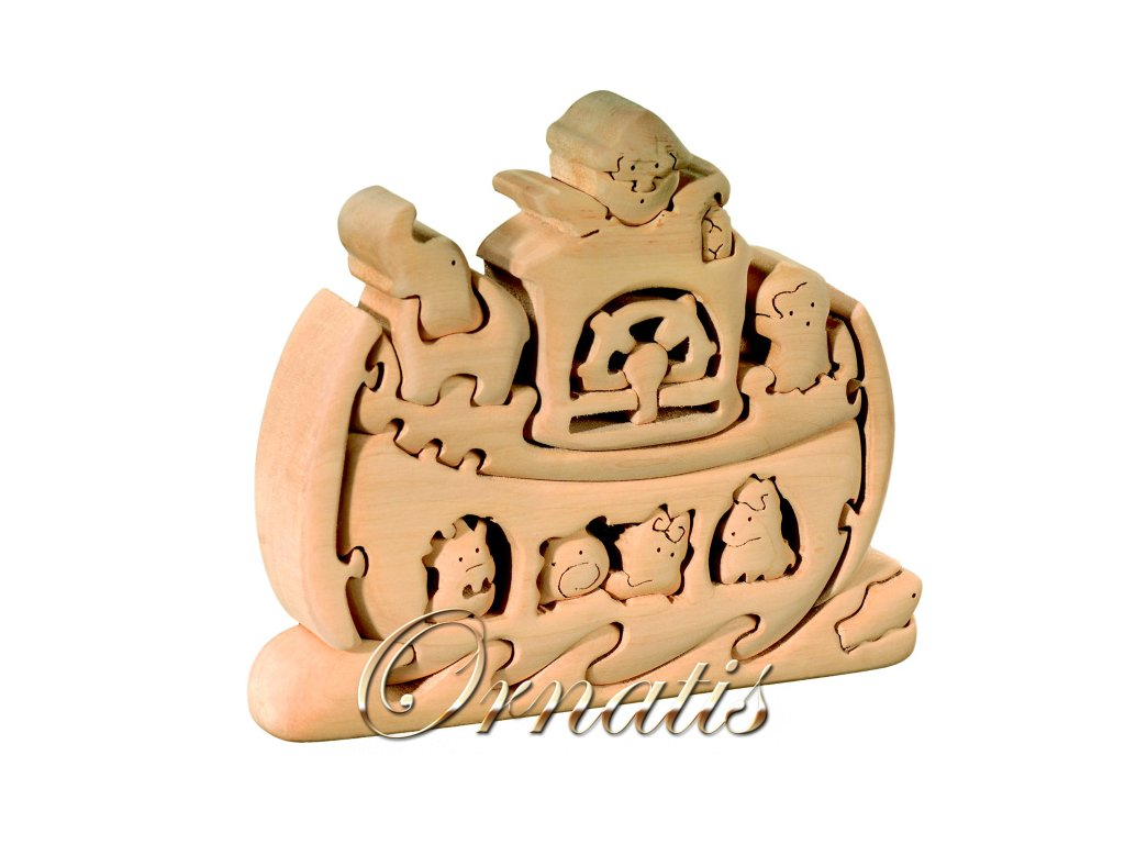 dřevěné 3D puzzle-noemova archa