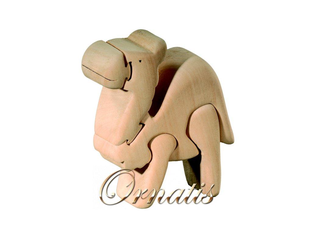 Dřevěné 3D puzzle-velbloud