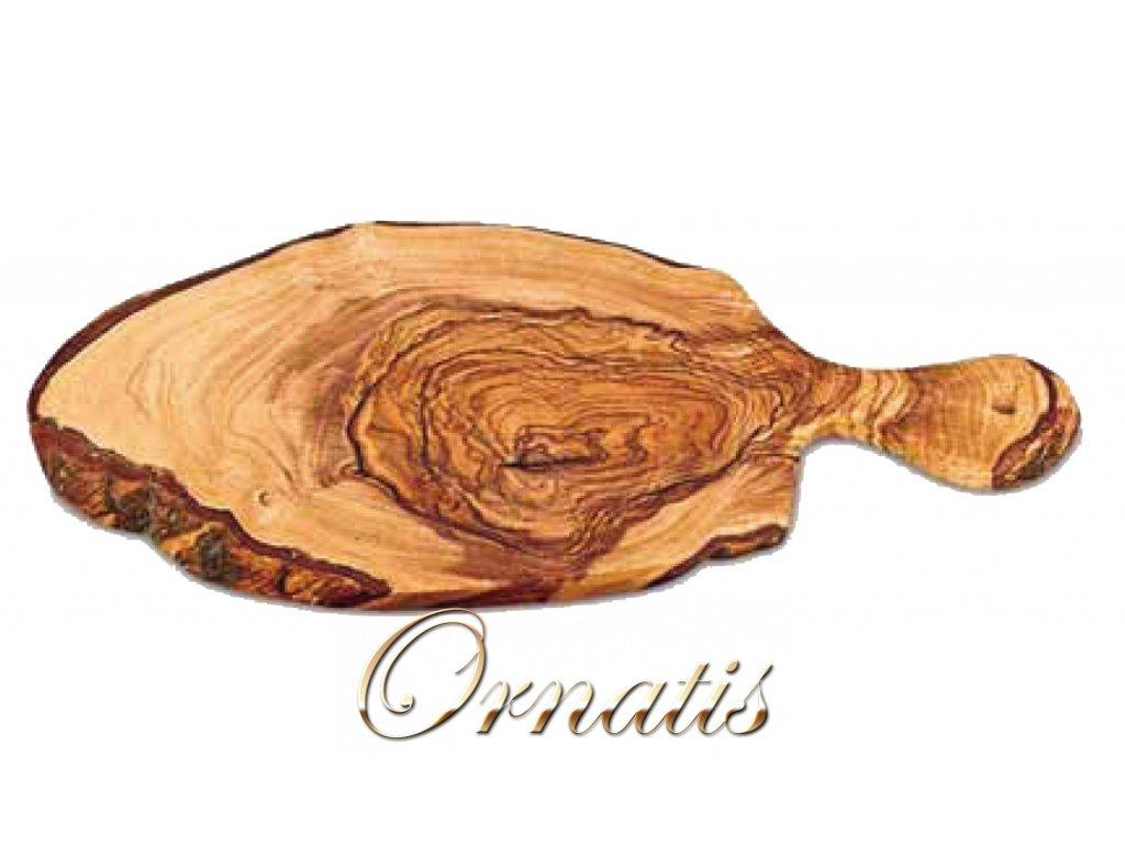 Dřevěné prkénko s držadlem z olivového dřeva