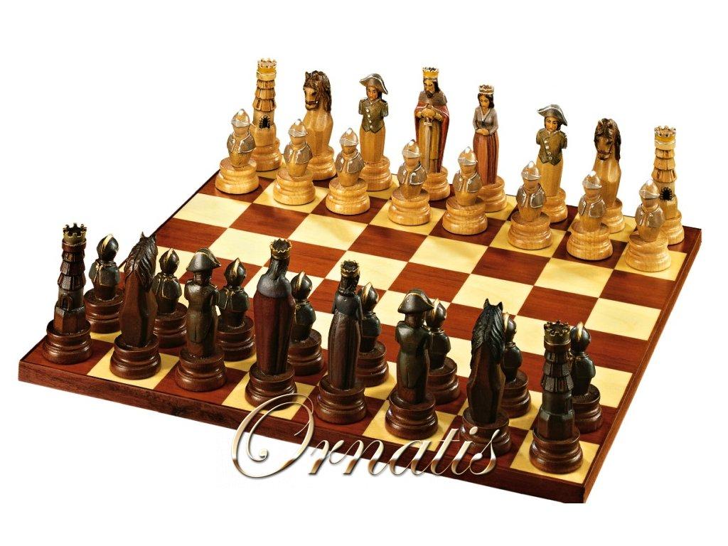 dřevěné šachy šachovnice šachové figury