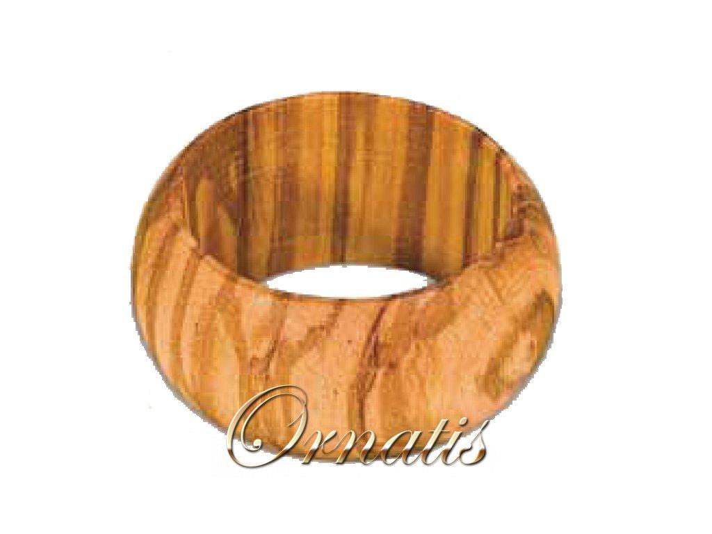 Dřevěný držák na ubrousky z olivového dřeva