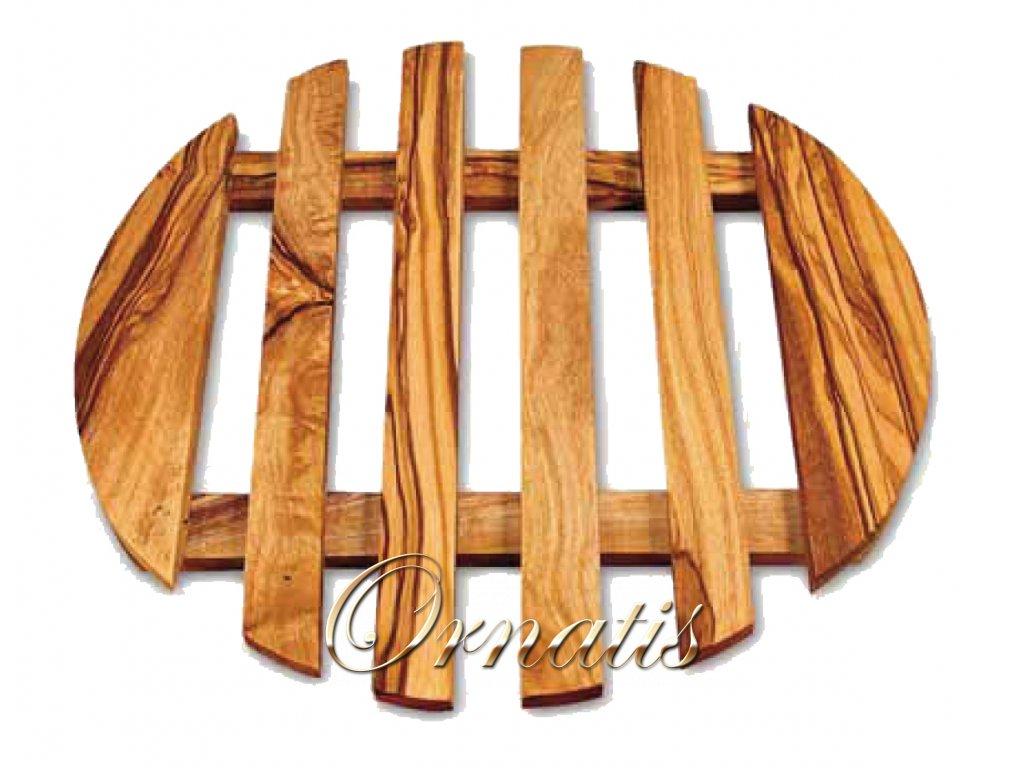 Dřevěný pod tácek pod hrnce z olivového dřeva