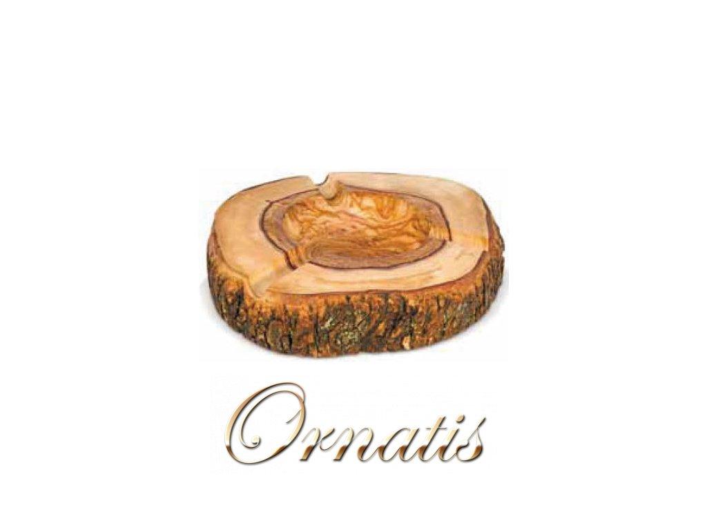 Dřevěný popelník z olivového dřeva