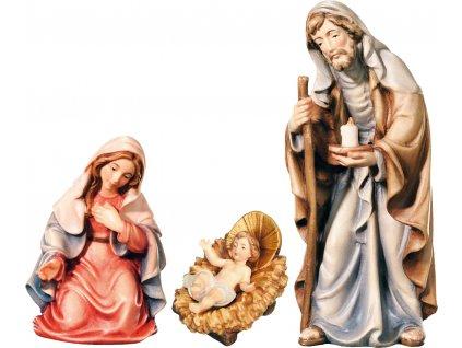 Dřevěná vyřezávaná socha Svaté rodiny