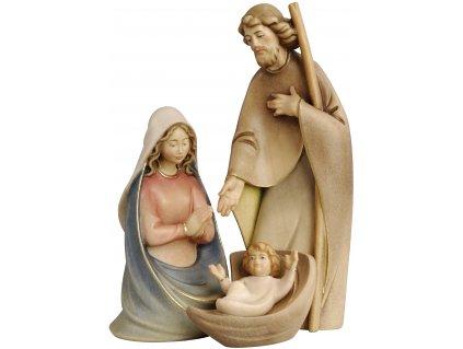 Drevená vyrezávaná svätá rodina