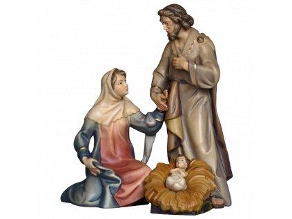 svatá rodina dřevěný betlém vánoční čas narození ježíše