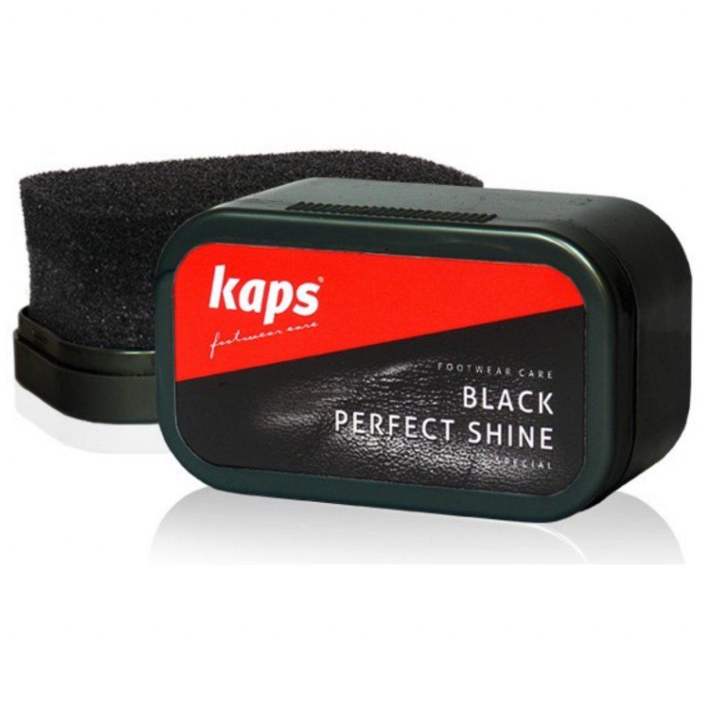 Hubka na leštenie čiernych topánok Kaps Black Perfect Shine