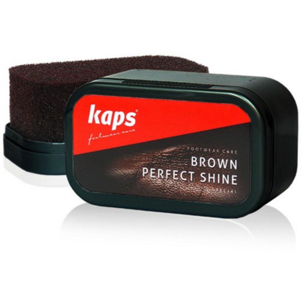 Hubka na leštenie hnedých topánok Kaps Brown Perfect Shine
