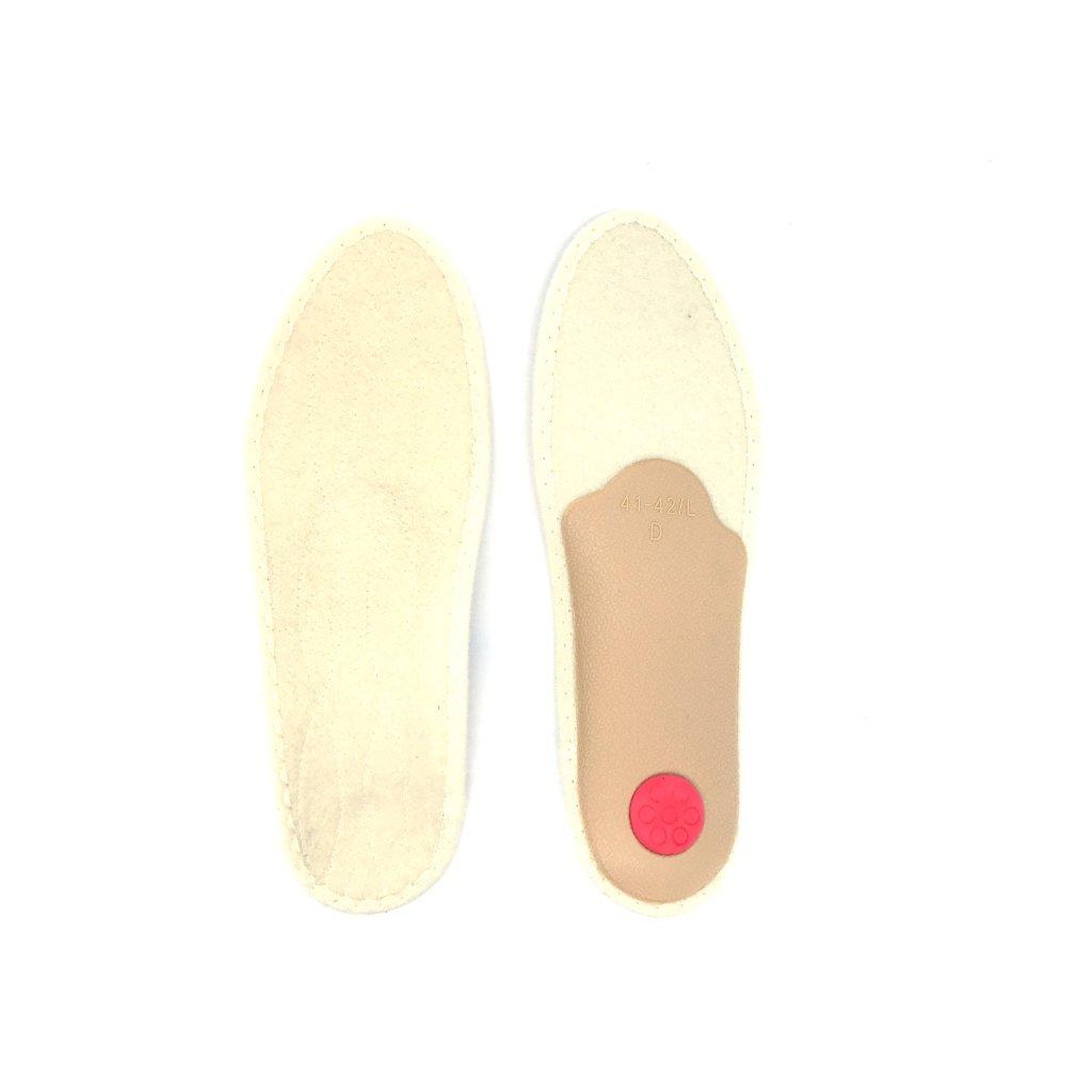 Ortopedické vložky do topánok zateplené vlnou WOOL PIK (4)