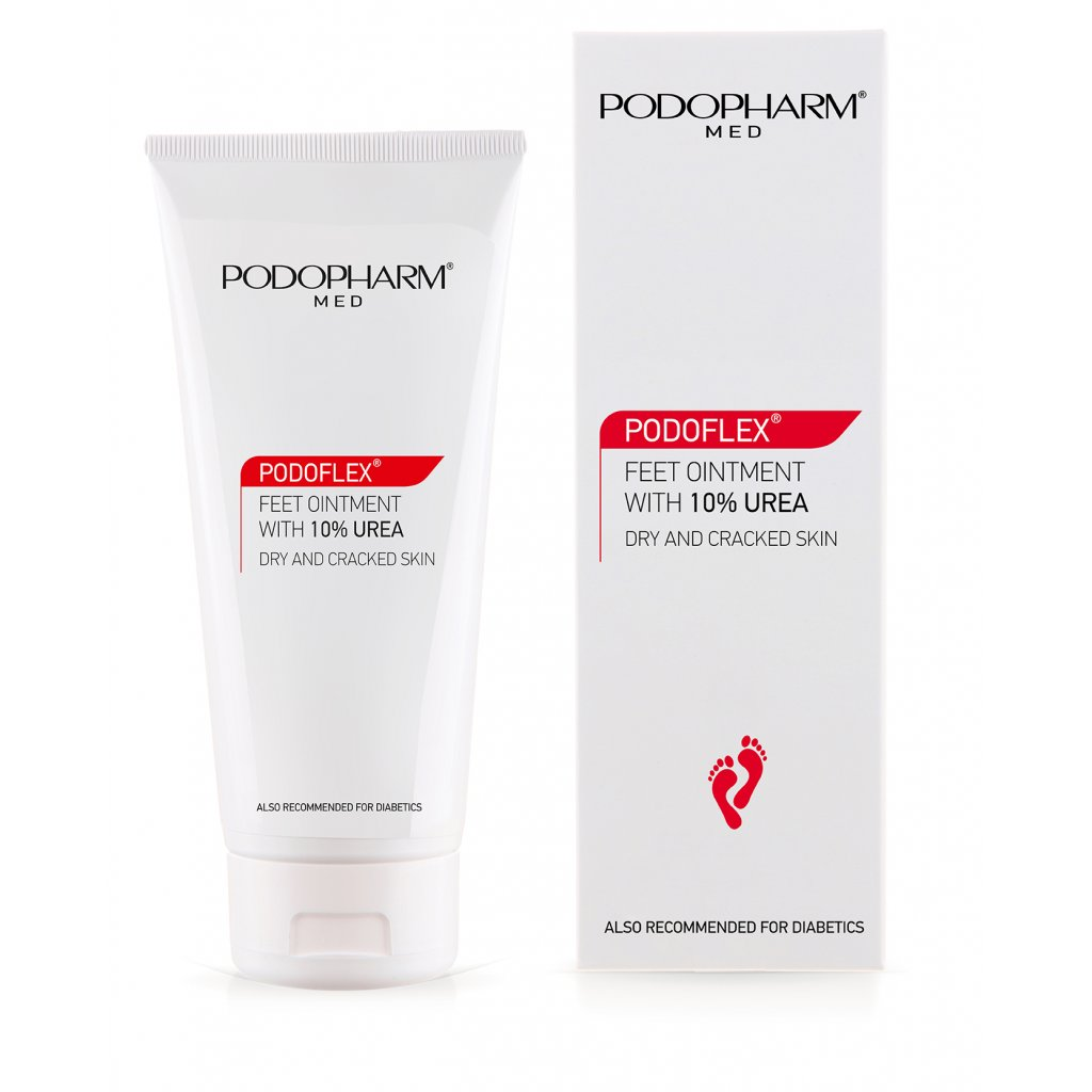 Masť na chodidlá s 10% urea Podopharm Dry & Cracked Skin