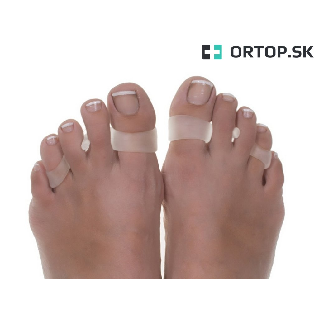 Separátor prekriženych prstov na nohe Ortop sk