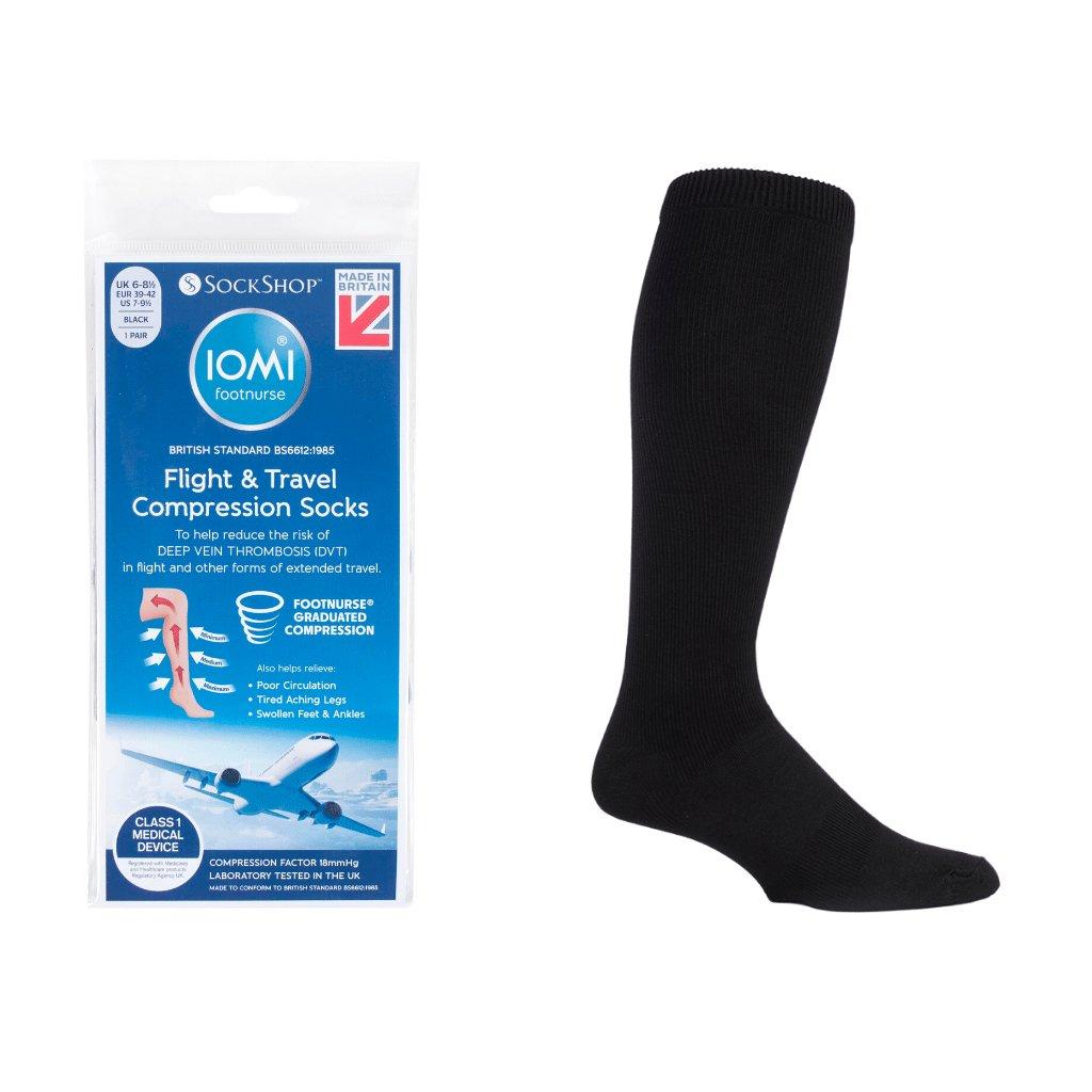 Kompresné ponožky na cestovanie SockShop IOMI Flight & Travel socks