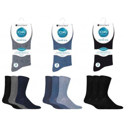 Pánske ponožky pre diabetikov IOMI Gentle Grip