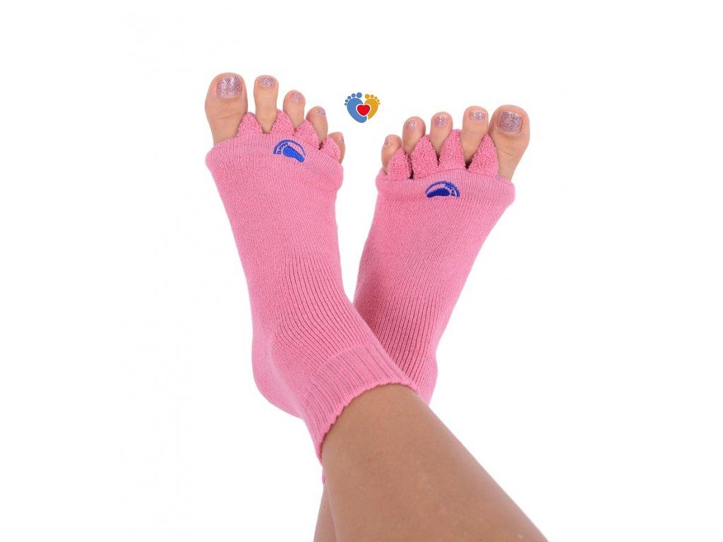 Adjustačné ponožky® PINK  ortopedické ponožky