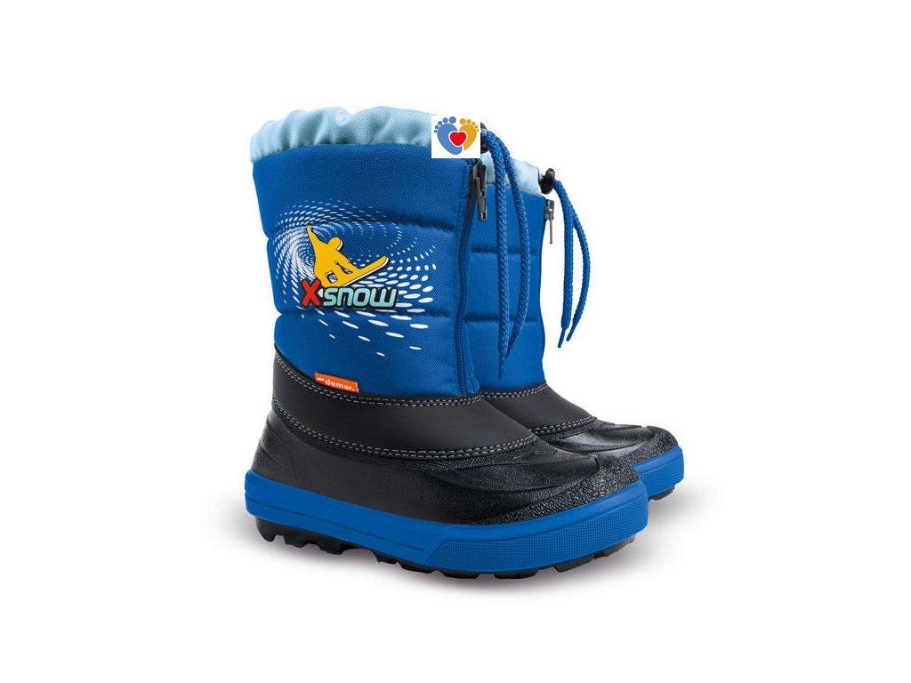 Detské zimné snehule KENNY 1532 NA blue