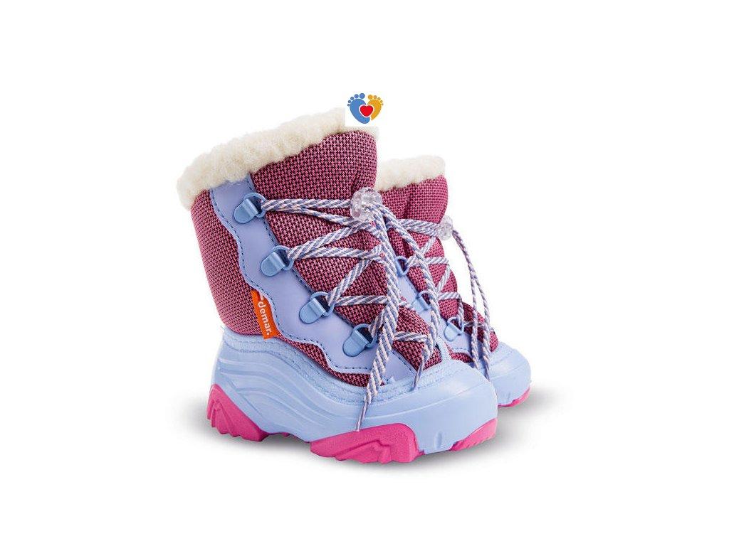 Detské zimné snehule DEMAR-SNOW MAR 2 NA pink 4017