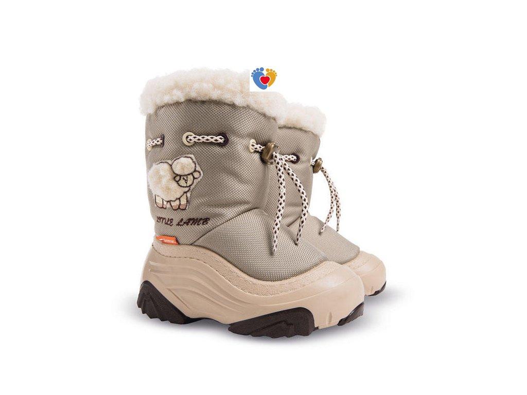Detské zimné snehule DEMAR-LITTLE LAMB 2 A beige 4015