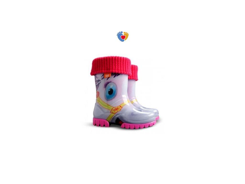 Detské gumáky DEMAR TWISTER LUX PRINT HA - pony 0038