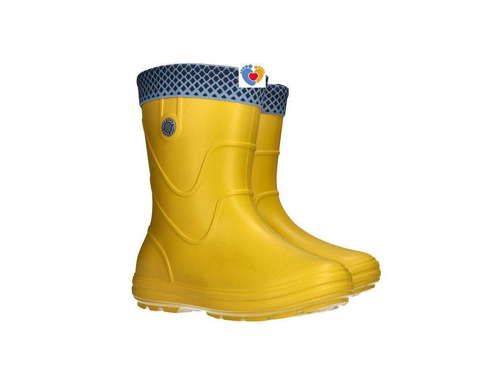 Detské gumáky DEMAR-VIBES 0320 E yellow / žltá