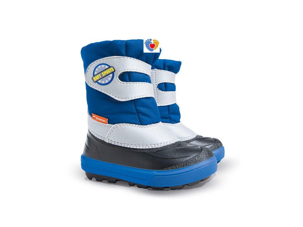 Detské zimné snehule BABY SPORTS 2 NB blue 1506