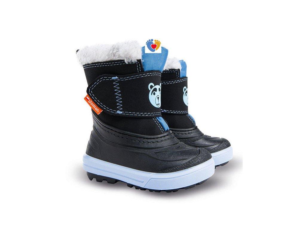 Detské zimné snehule BEAR A blue 1507