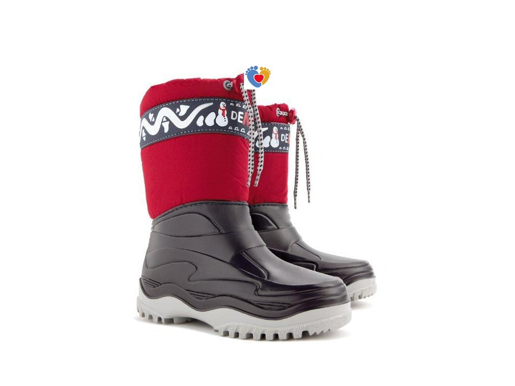Detské zimné snehule FROST B red 0376