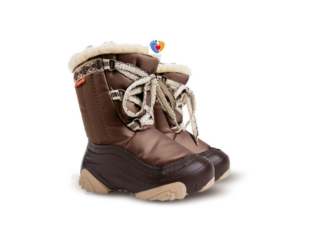 Detské zimné snehule JOY 2 NA brown 4019