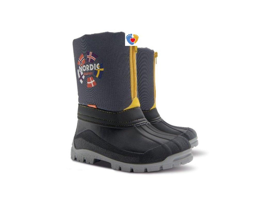 Detské zimné snehule  DEMAR-NEW NORDIC B grey 1312